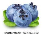 Ripe Blueberrys Isolated On...