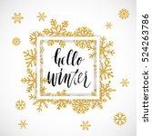 elegant merry christmas... | Shutterstock .eps vector #524263786