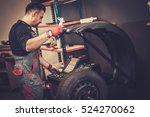 professional car  mechanic...   Shutterstock . vector #524270062
