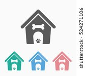dog house icon | Shutterstock .eps vector #524271106