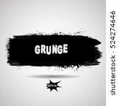 grunge paint stripe . vector... | Shutterstock .eps vector #524274646