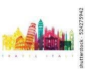 italy detailed skyline. vector... | Shutterstock .eps vector #524275942