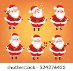 set of santa claus clauses in... | Shutterstock .eps vector #524276422