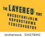 vector of stylized layered font ... | Shutterstock .eps vector #524278342