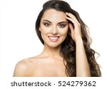portrait of a beautiful smiling ... | Shutterstock . vector #524279362