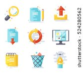 office icons  flat design. | Shutterstock .eps vector #524280562