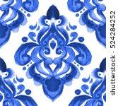 damask hand drawn floral design.... | Shutterstock . vector #524284252