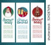 set design template new year's... | Shutterstock .eps vector #524287696