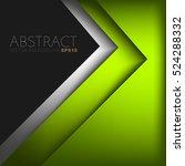 green triangle vector... | Shutterstock .eps vector #524288332