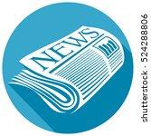 newspaper flat icon   Shutterstock .eps vector #524288806