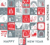 christmas calendar and poster.... | Shutterstock .eps vector #524290306