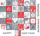 christmas calendar and poster.... | Shutterstock .eps vector #524290306