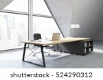 side view of a ceo office with... | Shutterstock . vector #524290312