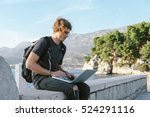 charming young man working on... | Shutterstock . vector #524291116