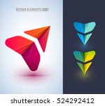 abstract arrow icon design. can ... | Shutterstock .eps vector #524292412