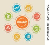brand. concept with icons and... | Shutterstock .eps vector #524294932