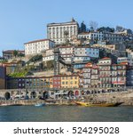 colorful houses on the bank of... | Shutterstock . vector #524295028