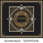 art deco whiskey card | Shutterstock .eps vector #524295106