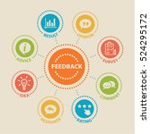 feedback. concept with icons... | Shutterstock .eps vector #524295172