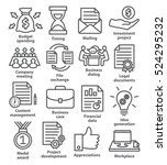 business project planning icons ... | Shutterstock .eps vector #524295232