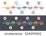 Timeline infographics design with arrows, workflow or process diagram, flowchart, vector eps10 illustration | Shutterstock vector #524295502