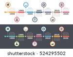 timeline infographics design... | Shutterstock .eps vector #524295502