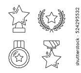 star award line icons  vector... | Shutterstock .eps vector #524295532