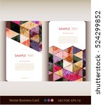 abstract geometric business... | Shutterstock .eps vector #524299852