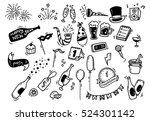 set of new year doodle | Shutterstock . vector #524301142