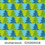 green and blue color christmas... | Shutterstock .eps vector #524304418