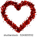romantic valentine card with... | Shutterstock .eps vector #524305552