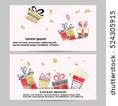 gift voucher template design... | Shutterstock .eps vector #524305915