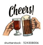 female and male hands holding... | Shutterstock .eps vector #524308006