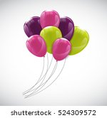 color glossy happy birthday... | Shutterstock .eps vector #524309572