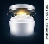 cream mask blank package model. ... | Shutterstock .eps vector #524315182