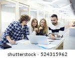 talented young architects... | Shutterstock . vector #524315962