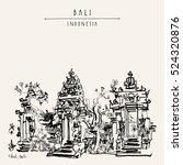 balinese hindu temple in ubud ... | Shutterstock .eps vector #524320876