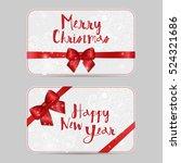 set of christmas ornamental... | Shutterstock .eps vector #524321686