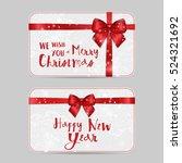 set of christmas ornamental... | Shutterstock .eps vector #524321692