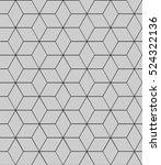 seamless abstract hexagonal... | Shutterstock . vector #524322136