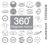 360 degree view related vector... | Shutterstock .eps vector #524326636