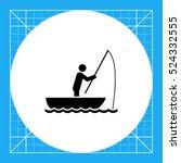 man in boat fishing icon | Shutterstock .eps vector #524332555