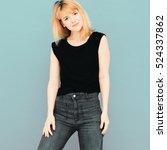 young beautiful woman girl... | Shutterstock . vector #524337862