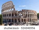 ruins of the colosseum in rome  ... | Shutterstock . vector #524340556