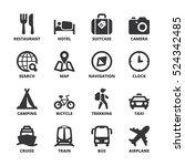 Set Of Black Flat Symbols Abou...