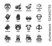 set of black flat symbols about ... | Shutterstock .eps vector #524342755