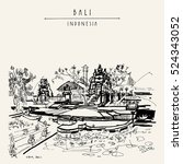 pura taman sari  balinese hindu ... | Shutterstock .eps vector #524343052