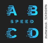 font with motion effect.... | Shutterstock .eps vector #524343496