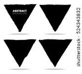 set of black grunge abstract... | Shutterstock .eps vector #524343832