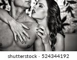 sexy couple foreplay at night ... | Shutterstock . vector #524344192